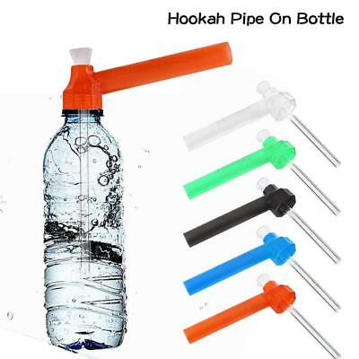 Portable Water Pipe Screw On Bottle Converter On-the-Go Hookah Accessories Red