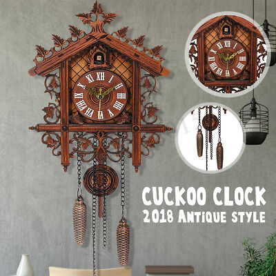 New Vintage Cuckoo Clock Forest Swing Wall Alarm Clock Modern Art Home Decor