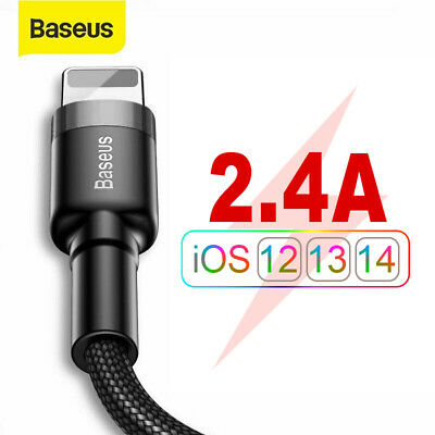 Baseus Braided Lightning USB Fast Charger Data Cable For Apple iPhone 6s 7 X XR