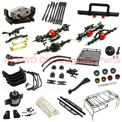 Front Rear Axle Bumper Leaf Spring Suspension 1:5 Planetary Gearbox Fr RC4WD D90