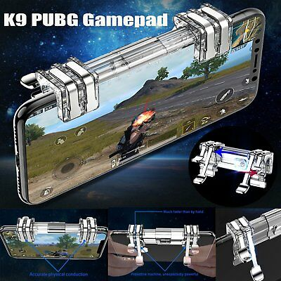 K9 Metal Mobile Phone Game Trigger Fire Button L1R1 Shooter Controller for PUBG