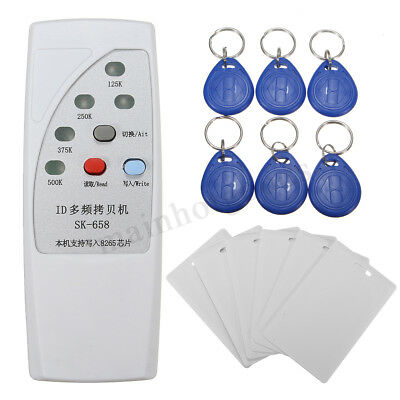 13Pcs 125KHz RFID ID Card Reader Writer Copier Duplicator + 6 Cards/Tags Kit
