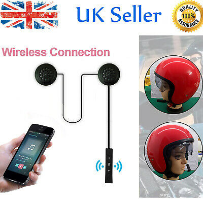 Wireless Bluetooth Headphones Motorcycle Helmet Intercom Headset Hands-free O7W4