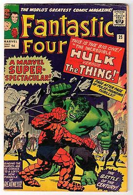 Marvel Comics FN 5.0  HULK v THING BATTLE  FANTASTIC FOUR  #25
