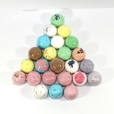 Bath bombs rounds 24 x 65g (5cm) 1 of each of our 24 Bee Beautiful scents