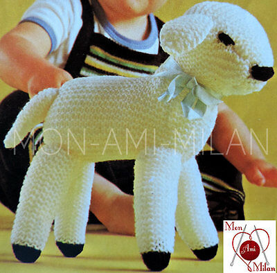 KNITTING PATTERN To Make a SPRING LAMB Cuddly Toy SHEEP Baby Nursery EASTER - DK
