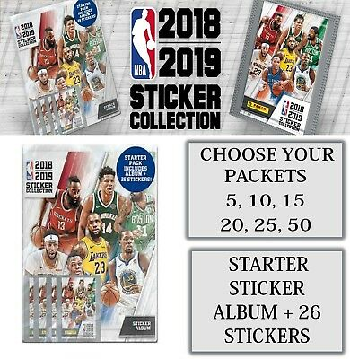 PANINI NBA 2018 2019 Sticker Collection Packets Choose 5,10,15,25,50