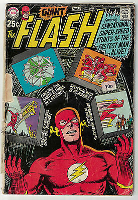 DC Comics THE FLASH Issue 196 Stunts Of The Fastest Man Alive Giant Size! FR