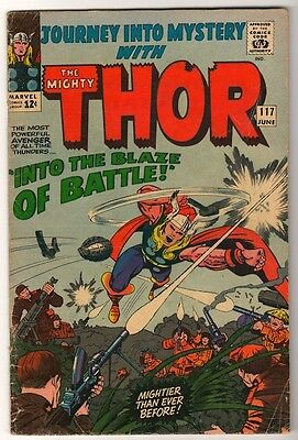 Marvel Comics  VG+ THOR #117  AVENGERS  Journey into mystery  KIRBY