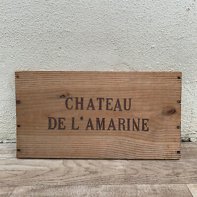 Wine Wood Crate Box Panel Antique Vintage French wall sign AMARINE 25101812
