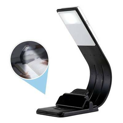 Convenient LED USB Charge Book Lights Fold Adjust with Magnetic Clip Night Lamp