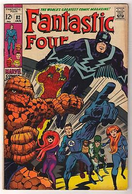 Marvel Comics FN  FANTASTIC FOUR #82 Inhumans black bolt