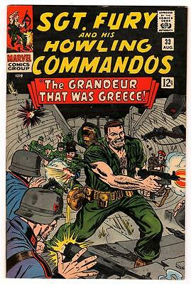 MARVEL Comics SGT FURY (nick)  SILVER age #33  VFN/NEAR MINT 9.4