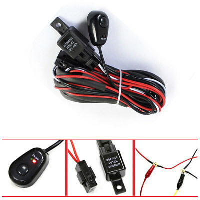 Remarkable 12V 40A Wiring Harness Kit Loom For Led Work Driving Light Bar With Wiring Cloud Hisonuggs Outletorg