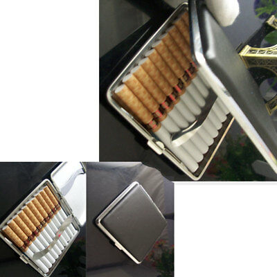 Stainless Steel Pu Cigar Cigarette Tobacco Case Pocket Pouch Holder Box