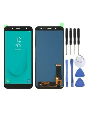 DISPLAY LCD SCHERMO TOUCH SCREEN Samsung Galaxy J6 (2018) (TFT Material ) NERO
