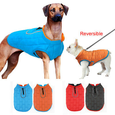 Water-Resistant Dog Jacket Reversible Dog Coat Winter Warm for Small Large Dogs