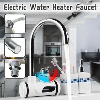 LED Display Electric Faucet Fast Instant Heating Water Heater Basin Mixer Tap