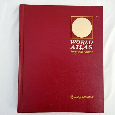 Rand McNally World Atlas Imperial Edition 1972 Maps Earth Science Statistics