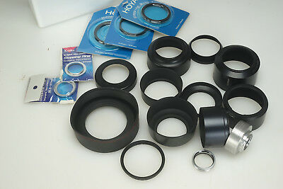 "WHOLESALE RETAIL ""Camera Store "" Mixed Lot LENS HOODS Stepping Rings Metal"