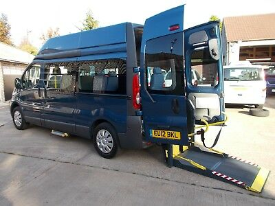 WHEELCHAIR ACCESSIBLE WAV DISABLED MOBILITY 2012 VAUXHALL VIVARO LWB 7 SEATS 44k