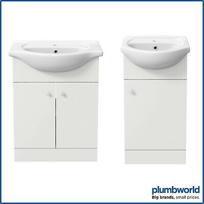 Bathroom Basin Sink Vanity Unit Single Tap Hole Floor Standing 450mm 550mm 650mm