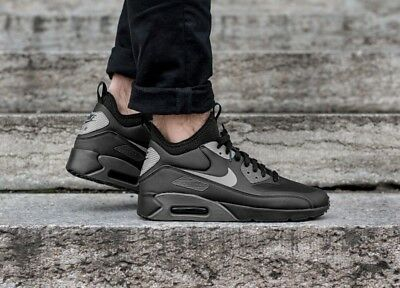 reputable site 5cb81 d5489 Nike Air Max 90 Ultra Mid Winter Black Anthracite Cool Grey Uk Sz 7.5  924458-