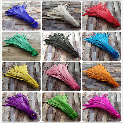 Wholesale 10/50/100 pcs Beautiful 25-40cm/10-16 inches Natural Rooster Feathers