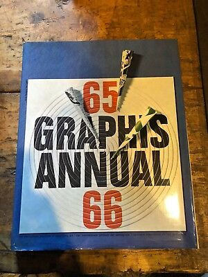 Large MID-CENTURY Graphis Annual 1965/66 International Book of ADVERTISING ART