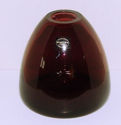 Vintage Handmade Makora Krosno Made in Poland Amethyst Vase - Original Sticker
