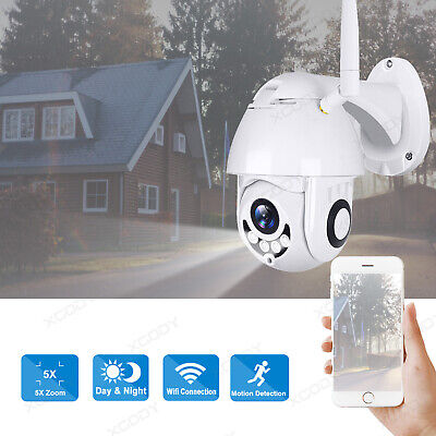 1080P HD Wireless Wifi PTZ IP Security Camera 5x Zoom Outdoor Waterproof TF Slot