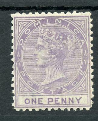 Dominica 1874 1d lilac SG1 MLH cat £150