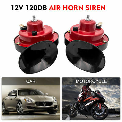 12V New Loud Air Horn Set Dual Tone Car Bike Van Boat Siren Twin Lorry Horns Uk