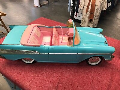 Barbie 57 Chevy Bel Air Convertible Car Turquoise And Pink 1988 Mattel