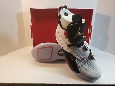NIKE AIR JORDAN XXXIII White Gold mens sz 9.5 AQ8830-100 Future of Flight 33 9fcd8cc7a