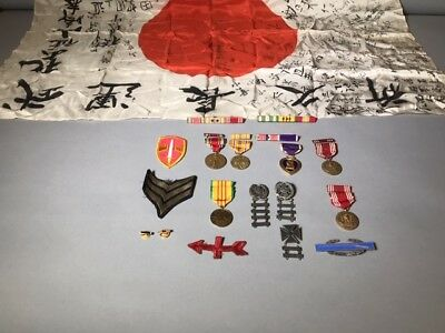 Authentic WWII and Vietnam War memorabilia