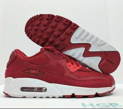 NIKE AIR MAX 90 Premium Mens Running Training Shoes Gym Red White 700155 602