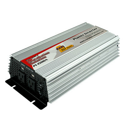12V DC to 110V AC Power Inverter 1500 Watts Continuous High efficiency PI-1500A