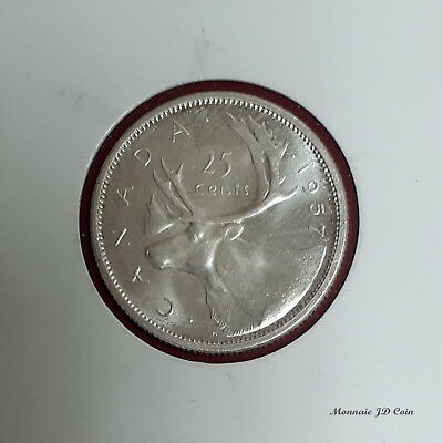 1957 Canada 25 Cent Choice B.U. #BC15