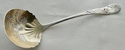 """TOWLE Co.1887 CLOVER PATTERN STERLING SILVER Gold Washed Bowl Ladle 6"""""""