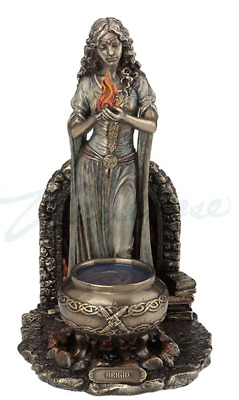 Brigid Goddess of Hearth & Home Statue Sculpture Figurine - WE SHIP WORLDWIDE