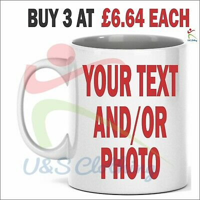 Large Personalised Mugs Custom Company Promotion Text Photo Name Birthday Gifts