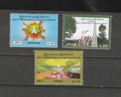 Burma STAMP 2016 ISSUED 21 st CENTURY PEACE CONFERENCE  SET, MNH, RARE