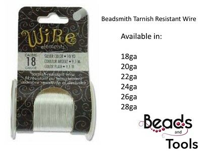 Beadsmith Tarnish Resistant Wire - Silver Plated Wire  Artistic Wire  Craft Wire