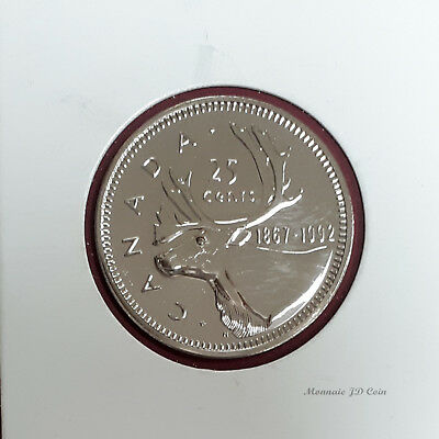 1992 Canada 25 Cent Proof Like