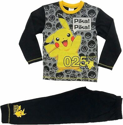 Official Pokemon Boys Girls Pyjamas Pajamas Kids Childrens Pikachu 6 8 10 12