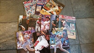 Lot of 34 Classic,Vintage Beckett Baseball Card Monthly Magazines. 1989,90,91,92