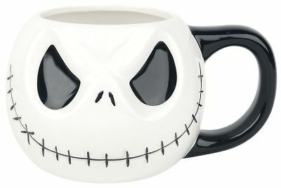 The Nightmare Before Christmas Jack 3D Tasse weiß/schwarz