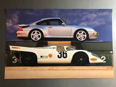 1997 Porsche 911 Turbo Coupe & 917 Print, Picture, Poster RARE!! Awesome L@@K