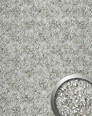 WallFace 17267 FLORAL VINTAGE Wallpanel selfadhesive Leather/flower grey 2,6 sqm